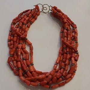 Exquisite, vintage, authentic coral necklace.